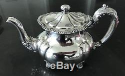 Wallace 5 piece Sterling Silver Soldered Coffee/Tea Set Discard pot nickel silv