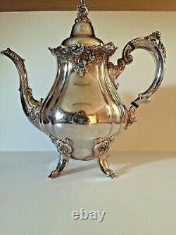 Wallace Baroque Silverplate Tea Service (Companion to Grande Baroque) Heavy Set
