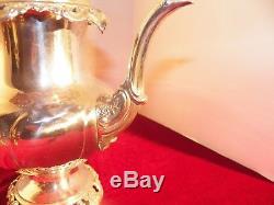 Wallace Grand Baroque Sterling Silver 5 Piece Tea Set Excellent No Monograms