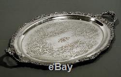 Wallace Silver Tea Set Tray c1945 GRAND BAROQUE 28