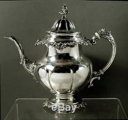 Wallace Sterling Tea Set Grand Baroque No Mono 77 Ounces