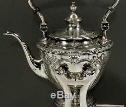 Watson Sterling Tea Kettle & Stand Tea Set c1920 NAVARRE