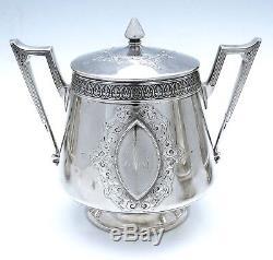 Wendt APOLLO 5 PC Sterling Tea Set FIGURAL CHERUB PUTTI Caldwell