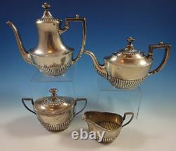Whiting Sterling Silver Tea Set 4pc #5800 (#1344)