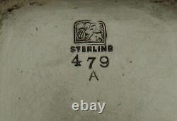 Whiting Sterling Tea Set c1885 japanese manner