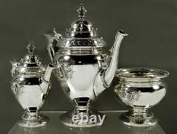 Wood & Hughes Silver Tea Set 1868 MEDALLION