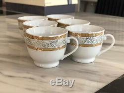 12pcs Café Tasses Et Soucoupes À Thé Turc Arabe Grec Cadeau De Style Cadeau Argent / Or