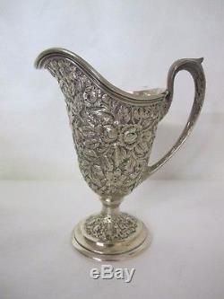 1910 Manchester Southern Rose Repousse Sterling 6 Pc. Ensemble De Thé Stieff & Kirk