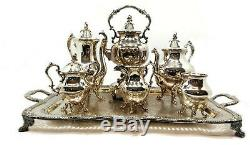 1930 Vintage Brillant / 1940 Goldfeder Argen Complet Service À Thé Service À Café