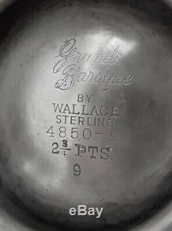 5pc Museum Qualité Wallace Grande Baroque Set Café / Thé Sterling + Plateau Grand