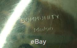 5pc Vintage. Communauté Melon Silverplate Thé / Café Set, Plateau Original. Nr