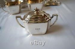 6 Pc Tiffany & Co. Hampton Sterling Silver Set Thé