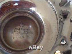 6 Pces Nettes Et Épurées Wallace Grande Baroque Sterling Coffee / Tea Set Matching Tray