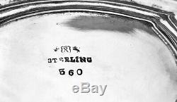 6 Pièces / Café À Thé Platerie Hepplewhite Reed / Barton Sterling 1907 Edwardian