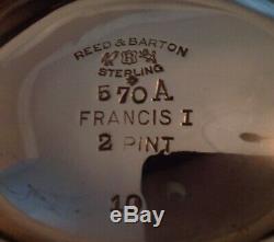 7 Pièces Reed & Barton Francis I Set Sterling Thé W Plateau Et Bouilloire 396 Troy Oz