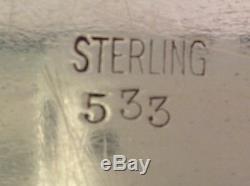 8 Pièces En Argent Sterling À Thé & Sterling Plateau, Marques De Sterling