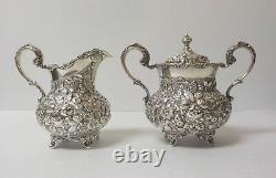 A. G. Schultz Baltimore Repousse Sterling Silver 5-pièces À Café / Thé