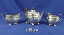 A George V Argent Trois Pièces Tea Set Birmingham 1929