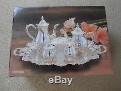 Années 80 Vintage International Silver Company, Service À Café / Thé Plaqué Nos