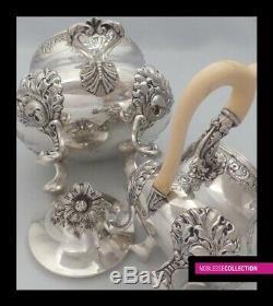 Antique 1890 French Sterling Silver Thé Cafe Pot De Sucre Bol Creamer Set 2.2kg