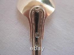 Antique Français Sterling Silver Tea Spoons, Set Of 12, Fin Du 19ème Siècle