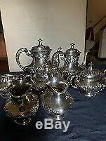 Antique Gorham Argent Sterling Tea Set 7 Pièces