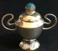 Antique Mini Sterling Silver 6 Pcs Tea/coffee Set Avec Plateau