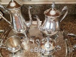 Antique Newport Gorham Silver Plate Service Café / Thé 5 Morceaux