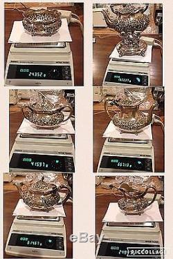 Antique Reed & Barton 1890 Sterling Silver Tea Coffee Set 6 Pc Rhett Famille Rare