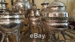 Antique Reed & Barton Silver Plate Tea Set # 2962 10 Piece