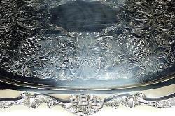 Antique Silver Plate Matching 5 Piece Tea Set De Poole Silver Co. 1898 Exc Cond
