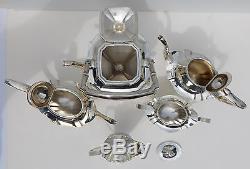 Antique Sterling Silver Ensemble De Café Au Thé Gorham Plymouth W Ensemble Bouilloire 6 Pc