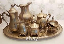 Argent À Thé Thé Et Café Pots, Jug, Pot À Lait, Sucrier, 2 Coquetiers Etc.