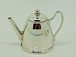Argent Antique Miniature Tea Set Et Plateau Birmingham 1971 Ltd De Bishton