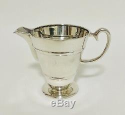 Argent Antique Solide Sterling Bachelors À Thé Teapot Lait Sucre Jug Bowl 1908