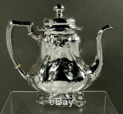 Argent Gorham Sterling Tea Set 1908 Martele