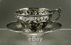 Bailey & Co. Argent Tea Set Cup & Saucer C1860 Non Mono