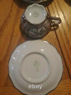 Bareuther Bavaria Silver Floral Mini Tea Cup Set Rare Et Beau