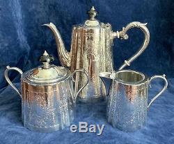 Barker Vintage Ellis Argent Plaque 3 Pièces Thé / Café Set