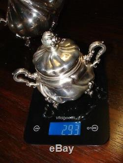 Beau-10 Piece Sterling Service Set! Cafe-tea-creamer-sucre-sel / Poivre +++