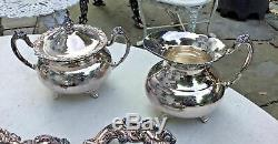 Belle Antique Victorienne Communauté Ascot Silverplate Thé / Café Set Service