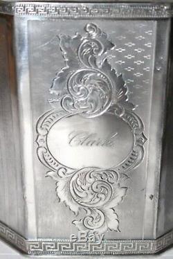 Belle Antique1917 Café À Thé En Argent