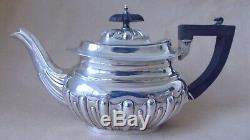 Belle Edwardian Sterling Silver 3 Piece Tea Set 1902