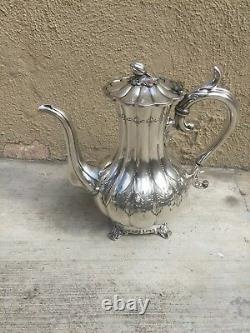 Belle Main Chassée 5 Pc Sheffield Silver Plated Tea Set