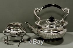 Bouilloire Et Support À Thé Anglais Sterling Tea Set Georgian Style 62 Oz