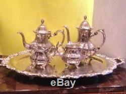 Café Plaqué Vintage Towle -silver / À Thé Avec Un Grand Plateau