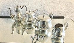 Christofle Antique Silverplated Art Déco Café Et Thé Set 4 Pcs