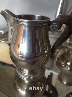 Christofle Argenté Plaqué Pot Sucre Café Thé Crémier Mis En France