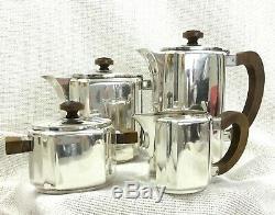 Christofle Art Déco Français À Thé Argenté Café Set Teapot Géométrique Bauhaus