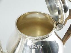 Christofle Gallia Argent Plaqué 4 Pc À Thé Thé, Café, Creamer & Sugar Bowl